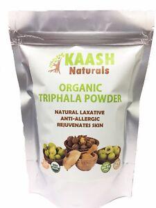 TRIPHALA POWDER 100% Natural Raw,Gluten Free,USDA Certified Organic