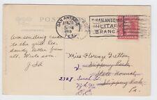 Poignant WW1 U.S San Antonio Texas Military Branch 1918 Card to Slippery  Rock