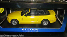 AUTOART 1.18 2006 FORD MUSTANG GT CONVERTIBLE YELLOW  LTD ED 6000 PCE  AWESOME