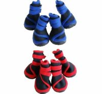 Dog Cat Shoes Red Blue Waterproof XXS,XS,S,M,L,XL,XXL Boots Booties Paws Injury