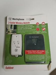Westinghouse 2 Outlet wireless remote Timer Outdoor Sensing