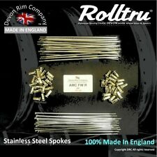 """AMC3-SSP Stainless Spokes 19"""" Rear AJS Matchless Full Width Alloy G80 and more"""