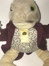 Vintage EDEN Beatrix Potter JEREMY FISHER Stuffed Animal Plush FROG 12""