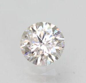 Certified 0.45 Carat G SI2 Round Brilliant Enhanced Natural Loose Diamond 4.91mm