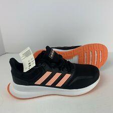 adidas Girl's Runfalcon K Black/Peach Running Shoes - Size 6 EE6932