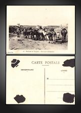 FEZ - MOROCCO - FORTIFIED WALL CARAVAN CAMELS POSTCARD