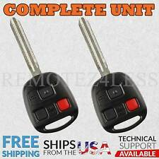 2 For 1998 1999 2000 2001 2002 Toyota Land Cruiser Remote Car Key Fob