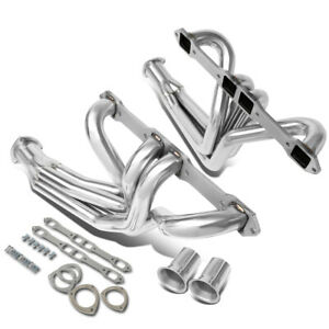 Fit 67-78 Dodge W100/W150/W200 Stainless Steel Long Tube Exhaust Header Manifold