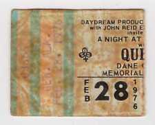 Queen - 2-28-76 - Dane County Coliseum concert ticket stub 1976 -Freddie Mercury
