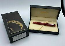 Stipula Italy Le Comete Rollerball Pen Red Gem Rodolite New in Box