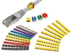 Kabelmarker Clips Kabel Beschriftung Kabelmarkierer Zahlen & Buchstaben bis 6mm²