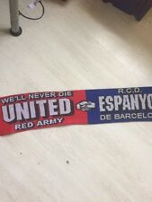 Manchester United Espanyol Of Barcelona Friendship Scarf