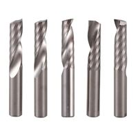 5Pcs 6Mm 1/4 Inch Carbide Cnc Router Bits One Single Flute End Mill Tools 22Mm O