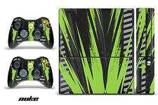Skin Decal Wrap for Xbox 360 E Gaming Console & Controller Sticker Design NUKE G