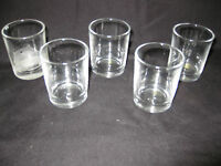"Lot of 5 Tea Light/Glass Candle Holders, Votive 2 1/2"" x 2"""
