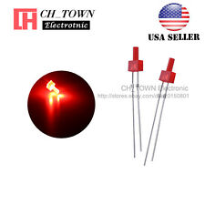 100pcs 2mm Diffused Led Diodes Red Color Red Light Dip Flat Top Usa