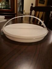 Vintage Tupperware Cariolier Divided Veggie Craft Relish Serving Tray W Handle