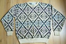 Vintage 80s 90s Multicolor Sweater Mens Large 417 by Van Heusen Usa Made!