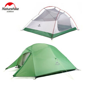 Naturehike Ultralight Backpacking Camping Tent Hiking 20D Silicone 1 2 3 Person