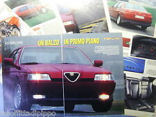 QUATTROR993-RITAGLIO/CLIPPING/NEWS-1993- ALFA ROMEO 164 Q4 -7 fogli