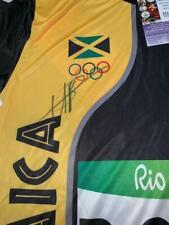 USAIN BOLT JAMAICA OLYMPICS WORLDS FASTEST MAN GOLD RARE JSA SIGNED JERSEY COA