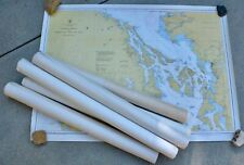 7 Vintage California Nautical Maps CG&S West Coast Oregon To Vancouver Island