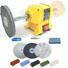 "150mm Induction Bench Grinder Bench Polisher With 6"" Metal Polishing Kit Machine"