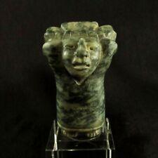 Pre-Columbian Mayan Carved Jade Figure of a Mayan Elite