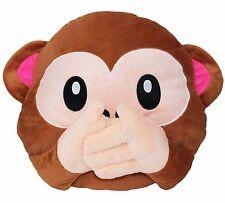 Big Adorable 3D Wise No Speak Monkey Pillow Stuffed Animal Cushion Gift Decor