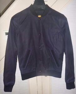 Common People Mens Navy Bomber Baseball Jacket - various sizes - new