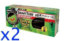 "2x SLIME 26"" Super Thick Self Sealing SCHRADER MTB Tube 26x1.75-2.125"""
