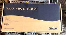 Matrox Millennium P690 LP PCIex1 128MB DualHeadgraphics Card WEEE RoHS NEW KIT