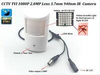 CCTV HD-TVI 2.0MP 1080P Lens 3.7mm IR-CUT PIR Hidden Detecto Spy 940nm IR Camera