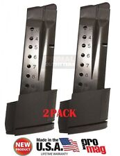 2 PACK ProMag Smith &Wesson S&W M&P9 Shield 9mm Extended 10 Round Magazine SMI28