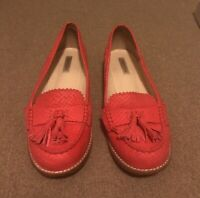 Oroton Loafers - Neon Coral 39.5US