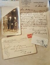 Vintage Antique Correspondence and Photo Timaru, New Zealand to Ohio 1926-1929
