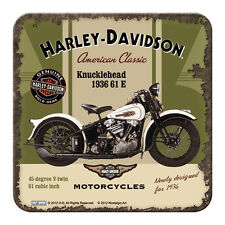 HARLEY DAVIDSON KNUCKLEHEAD - METALL UNTERSETZER 9x9cm COASTER 46105