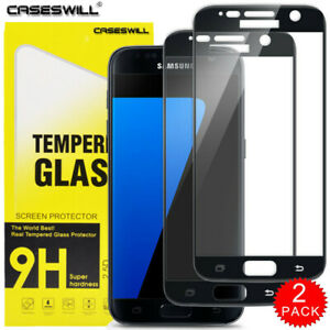 For Samsung Galaxy S7 - Full Coverage Tempered Glass Screen Protector [2-Pack]