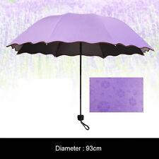 Anti UV Sun Rain Umbrella Automatic Water Blossom Parasol Windproof Folding #JP