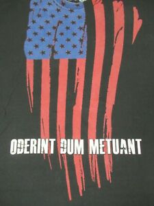RANGER UP LET THEM HATE AS LONG AS THEY FEAR AMERICAN FLAG BLACK XL SHIRT C1274