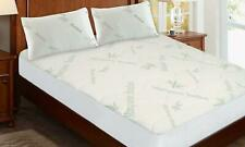 Breathable Cooling Bamboo Mattress Protector with Optional Pillowcase