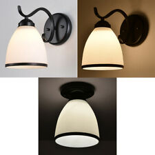 3pcs E27 and E14 Light Holder Replacement White Glass Light Shade (#3)