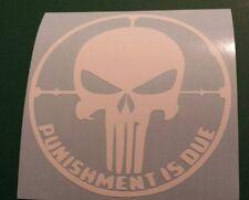 Vinyl Decal Sticker..Punisher Skull In Cross Hairs..Car..Truck..Window