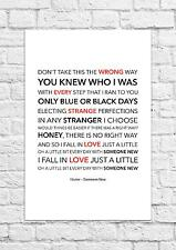 Hozier - Someone New - Song Lyric Art Poster - A4 Size