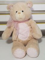 BABY GUND PINK TEDDY BEAR PLUSH TOY! KIDS SOFT TOY ABOUT 24CM SEATED BABY TOY!