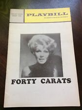Playbill - Forty Carats - Valley Forge Music Fair - July 1971 Vol. 9 #6