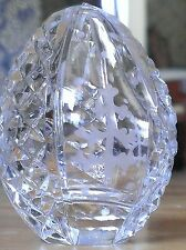 Authentic Crystal Egg Mouth Blown Hand Crafted Tree Faberge Stile