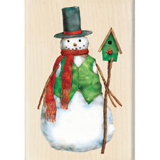 DAPPER SNOWMAN Rubber Stamp 60-00951 Inkadinkado Christmas Holiday winter NEW!