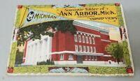 University of Michigan Apprx 1915 Souvenir Postcard Folder Vintage Ann Arbor