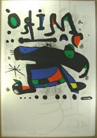 "Joan Miro Lithograph "" Composition "" Hand Signed Sheet Rare F/S From Japan"